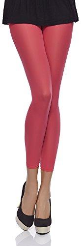 Merry Style Damen Mikrofaser Leggings 40 DEN MSSS006 (Coral, M (36-40))