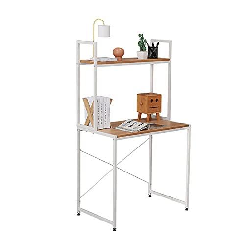 Escritorios Escritorio de computadora, estación de trabajo de oficina en casa de 31.5 pulgadas, escritorio de estudio con estantería, escritorio moderno con estantes de almacenamiento para espacios pe