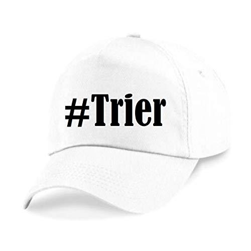 Reifen-Markt Base Cap Hashtag #Trier Größe Uni Farbe Weiss Druck Schwarz