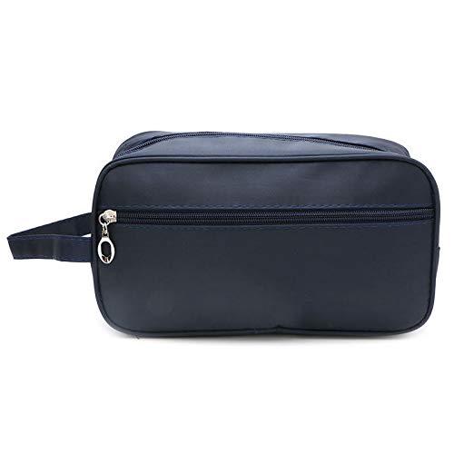 Dejva Make-up tas voor heren, reizen, waterdicht, toiletwasgoed, douche make-up organisator, draagbare tas Medium donkerblauw