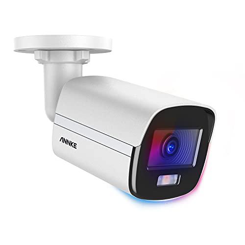 ANNKE NC400 PoE Telecamera di Sicurezza 0.001 Lux IP 4MP telecamera notturna a colori Resistenza alle intemperie IP67 Rilevamento di Movimento Accesso Remoto per Sorveglianza Interna o Estern