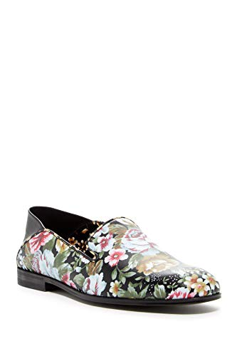 Alexander McQueen Floral Leather Slip-On Flats Shoes (36)