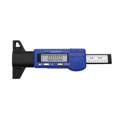 Neumático de coche digital Medidor de profundidad de la banda de rodadura del neumático Herramienta de medición Calibrador Medidores de espesor Pastilla de freno Zapata Sistema de control de neumático