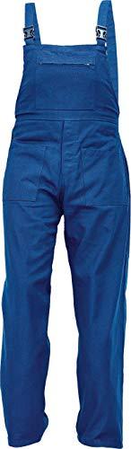 DINOZAVR UDO Pantalones con Peto de Trabajo para Hombre - Algodón Transpirable - Azul EU60