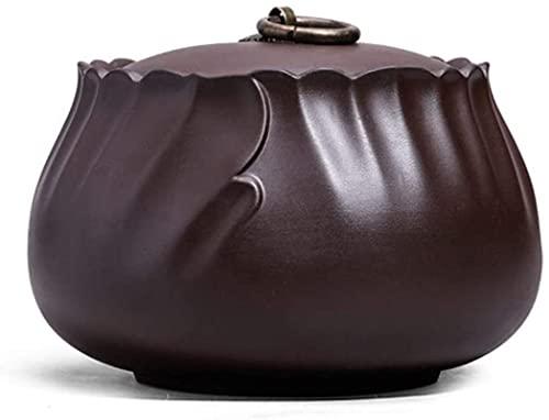 WHXL Teiera in Ceramica Tipo di stoccaggio Teiera Teiera Viola Sabbia tè Scatola da tè Uso Domestico Soggiorno sigillato a Prova di umidità