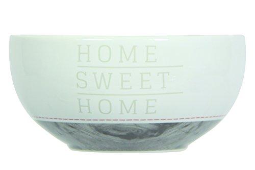 Novastyl 8010369 Home Sweet Home Lot de 6 Bols Grès Taupe 14 x 14 x 7 cm