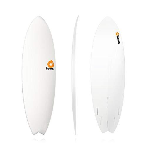 Tabla de surf epoxi Torq 5.11 Fish blanco