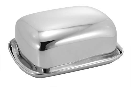 Vinayak International Stainless Steel Butter Dish 1 Set (1 Top & 1 Tray) Capacity - 500 Gram
