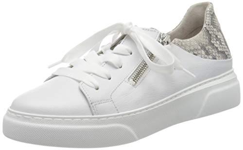 Gabor Damen Jollys 43.312 Sneaker, Weiß (Weiss/Leinen 24), 40 EU