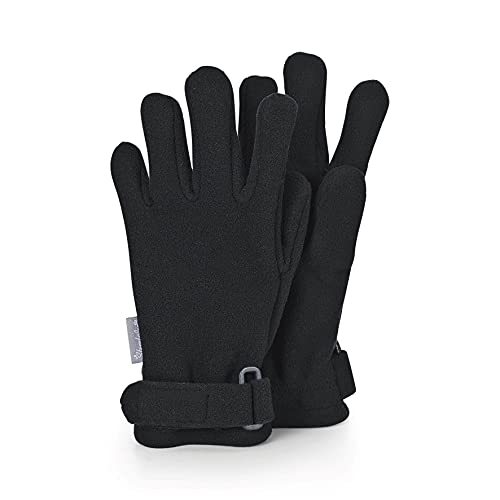 Sterntaler Unisex Kinder Fingerhandschuh Cold Weather Gloves, Schwarz, 3 EU