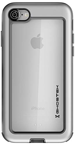 Ghostek Atomic Slim iPhone 7, iPhone 8, iPhone SE 2020 Case with Space Metal Bumper Heavy Duty Protection Wireless Charging Compatible 2016 iPhone 7, 2017 iPhone 8, 2020 iPhone SE (4.7 Inch) - Silver