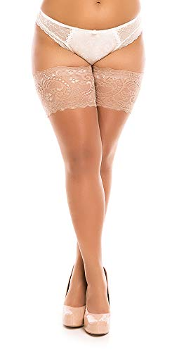Biggi Big Lace 40 Hold ups kousen grote maten