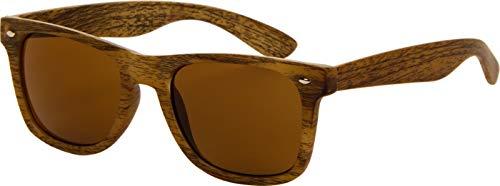 Az Eyewear Icons Wayfarer Zonnebril Hout Look Licht Bruin | Polarized