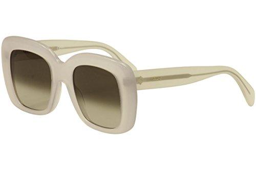 Céline Occhiali da Sole STELLA CL 41433/S Matte White/Brown Grey Shaded 52/22/150 donna