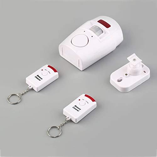 ACEHE Sensor de Alarma con Pir, 105db Nuevo Pir Sensor de Movimiento Cobertizo para el hogar Sistema de Alarma antirrobo Kit de Seguridad inalámbrico
