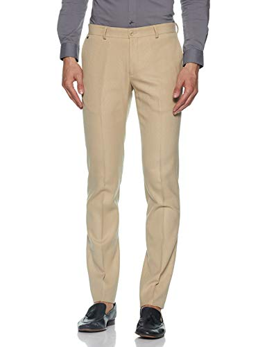 blackberrys Men's Skinny Fit Formal Trousers (BP-F-DO-Elko # Beige 34)