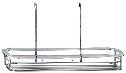 Kela 19630, étagère à épices à suspendre, métal chromé, 31 x 8 x 4 cm (longueur x largeur x hauteur), 'Prisma'