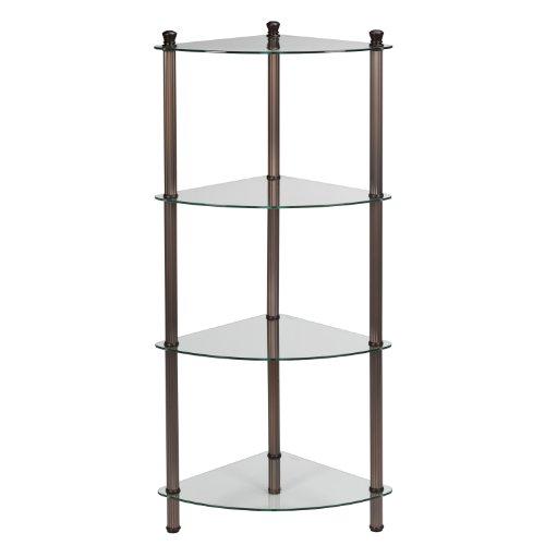 Creative Bath LEtagere 4-Shelf Corner Tower Oil-Rubbed Bronze Plate