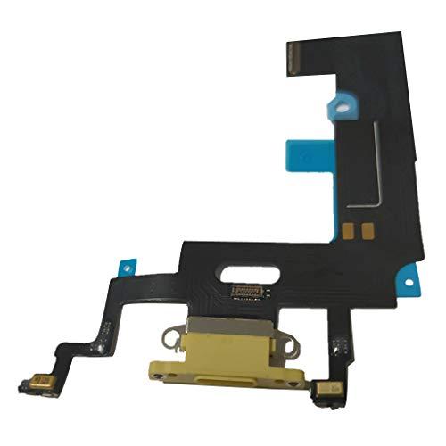 Almencla Cabo de carregamento USB com microfone para celular, peça de reposição flexível para iPhone XR, Amarelo