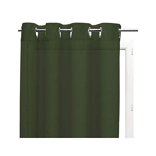 Soleil d'ocre Voilages, Coton, Vert, 140 x 240 cm