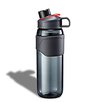 Gourde Sport, Bouteille d?eau 900ml, Water Bottle Sans BPA Anti-fuite reutilisable pour le Fitness, la Gym, la Maison, le Bureau,les Activités de Plein Air (Black)