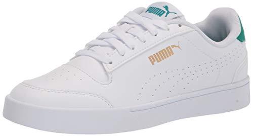 PUMA Men's Shuffle Sneaker, White-Parasailing Team Gold, Numeric_7_Point_5