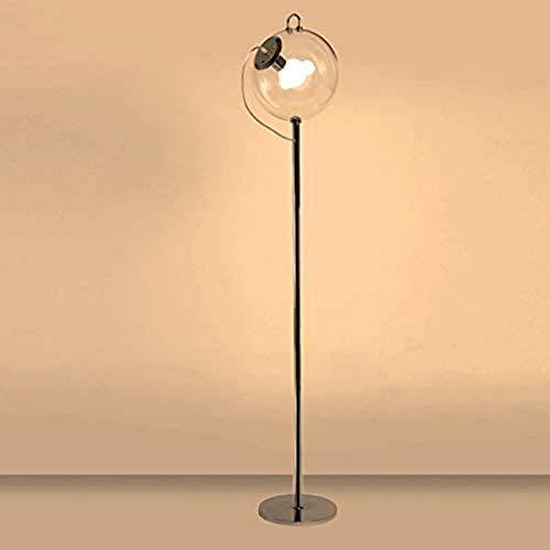 QTWW Lámpara de pie nórdica Simple Lámpara de pie de Bola de Cristal Moderna Arte de Hierro Forjado Personalidad Creativa Lámpara de pie Estudio Sala de Estar Dormitorio Lámpara de pie Lámpara es