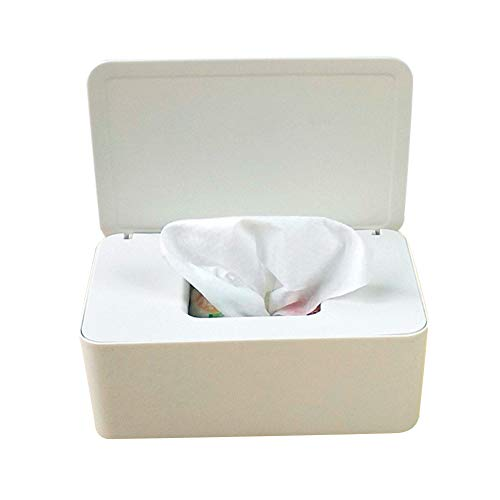 KPJSJ Estuche para Caja de pañuelos, Soporte para dispensador de toallitas húmedas, Estuche para Caja de Almacenamiento de pañuelos, Soporte para Papel con Tapa a Prueba