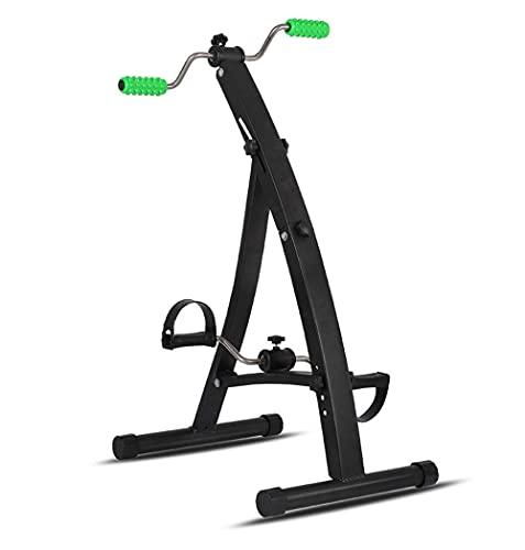 ZCYXQR Ejercitador de Pedales, Ejercitador médico de Pedales Plegables para Entrenamiento de piernas y Brazos - Bicicleta de Pedal de Ejercicio portátil (Deporte de Interior)