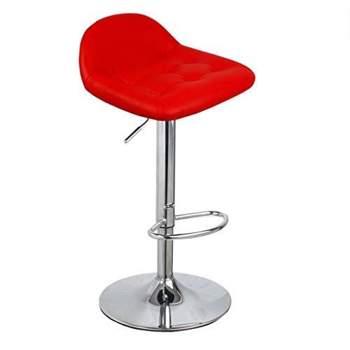 LHSUNTA Barhocker Rot,Höhenverstellbar Drehbar Stahl Kunstleder Drehhocker Küchenstühle Bürohocker Bürostühle Barhocker Barstühle Barstuhl Tresenhocker