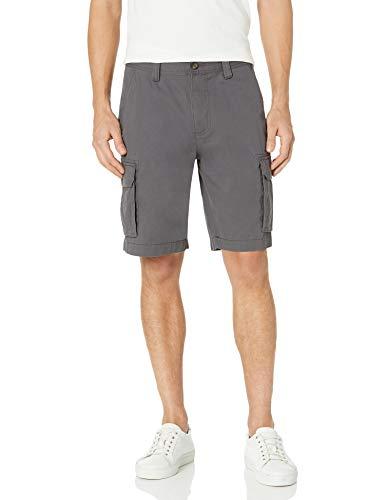 """Amazon Essentials Men's Classic-Fit 10"""" Cargo Short, Grey, 34"""
