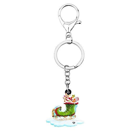DdA8yonH Porte Clef Noël Acrylique Candy Anime Chaussette de Ski Chaussures Porte-clés Porte-clés Porte-clés Porte-Monnaie Carte Sac Accessoire pour Les Femmes Girl