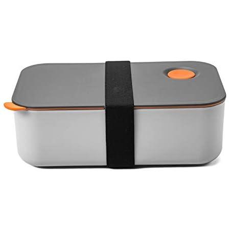 COMLIFE Lunch Box 1000ML avec 2 Compartiments, Boîte Bento Écologique sans BPA, Boîte à Repas Hermétique,Convient Au Micro-Ondes & Lave-Vaisselle,avec Certifications CE, FDA,RoHS (Orange)