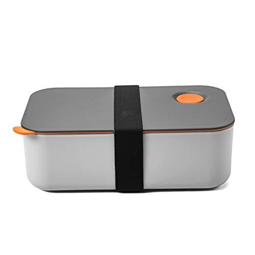 COMLIFE Bento Lunch Box 1000 ml mit 2 Fächern, umweltfreundliche BPA-freie Bento-Box Brotdose Lebensmittelbehälter mikrowellen- und spülmaschinenfest für Office, Schule, Heim und Picknick (Orange)