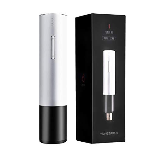 EMOOJOO Elektrischer Weinflaschenöffner, wiederaufladbarer USB-Edelstahlkörper, Weinliebhaber, kann zu Hause, im Restaurant oder auf Einer Party verwendet Werden (Weiß)