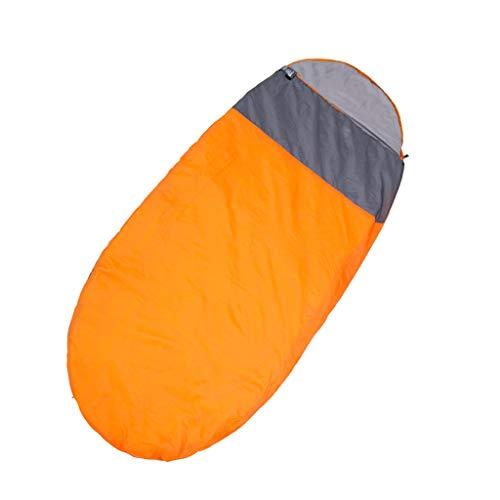 CATRP-Sac de couchage Camping en Plein Air pour Adultes Épaissir Garder Au Chaud 4 Saisons De Voyage Élargissement Et Allongement Individuels (Color : Orange, Size : 2.0kg)