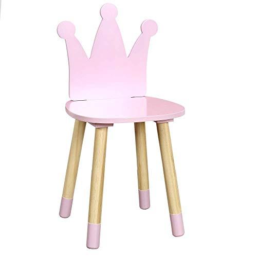 Home Deco Kids - Silla infantil con corona rosa