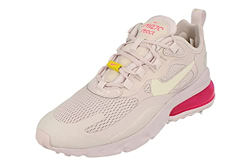 Nike Donne Air Max 270 React Running Trainers CZ0374 Sneakers Scarpe (UK 7.5 US 10 EU 42, Light Violet Sail Yellow 500)