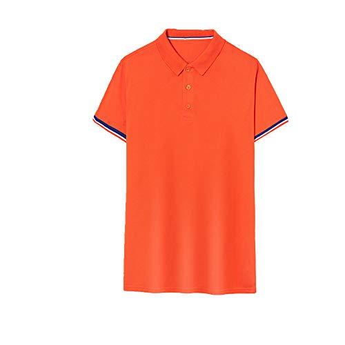 NOBRAND Sommer Poloshirt Kurzarm Arbeitskleidung Werbung T-Shirt für Herren Gr. 56, Orange