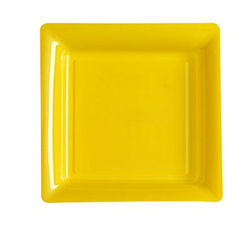 Ma Vaisselle Jetable - Assiette Carree Couleur Jaune Provence Diametre 180