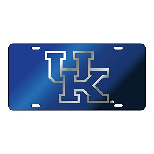 Craftique The University of Kentucky Blue on Blue Laser Cut Inlaid Mirror Tag