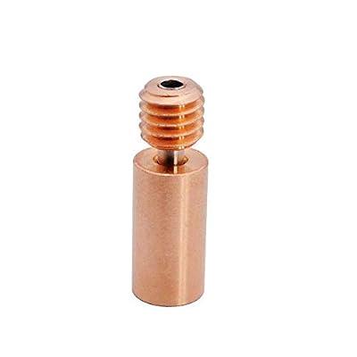 3Dman Bi-Metal Heatbreak Copper Alloy for V6 Hotend Volcano Prusa I3 MK3/MK3S Heat Break 1.75mm Filament (Smooth)