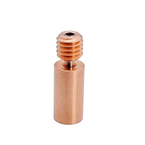 3Dman Bi-Metal Heatbreak lega di rame per V6 Hotend Vulcano Prusa I3 MK3/MK3S Heat Break filamento 1,75 mm (liscio)