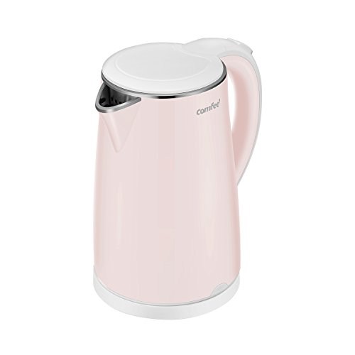 COMFEE#039 Electric Kettle Teapot 17 Liter Fast Water Heater Boiler 1500W BPAFree Quiet Boil amp Cool Touch Series Auto ShutOff and Boil Dry Protection 17L Baby Pink
