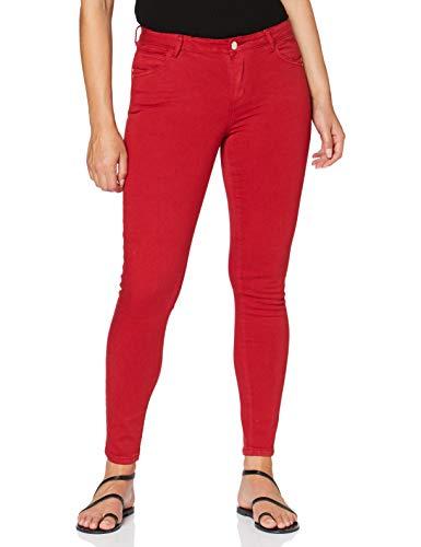 Morgan Pantalon Skinny Taille Standard 5 Poches Petra Casuales, Cereza, T36 para Mujer
