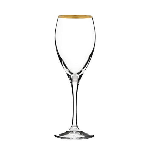 ARNSTADT KRISTALL Rotweinglas Kristallglas Pure (24 cm) mit 24 Karat Goldrand