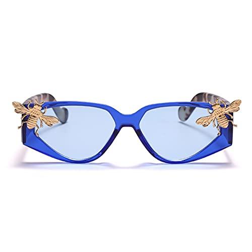 JIANCHEN Gafas de Sol Gafas de Sol Gafas de Gato Hombres Hombres pequeños Marcos anteojos de Lujo Marca de Lujo Gafas Hombres Retro Vintage Gafas UV400 (Color : 6)