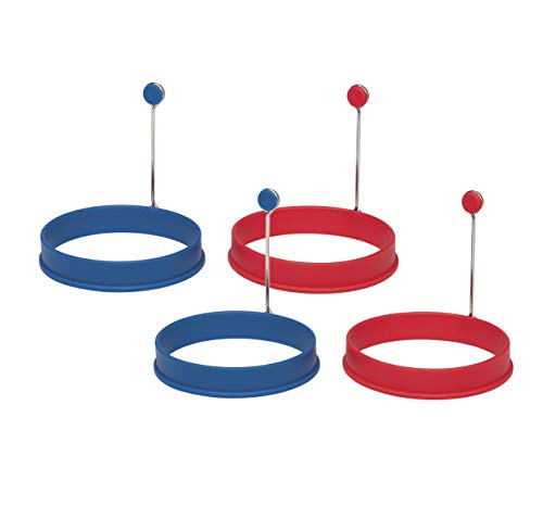 Mrs. Anderson's Baking Egg and Pancake Cooking Rings, Round, Set of 4, Nonstick Silicone