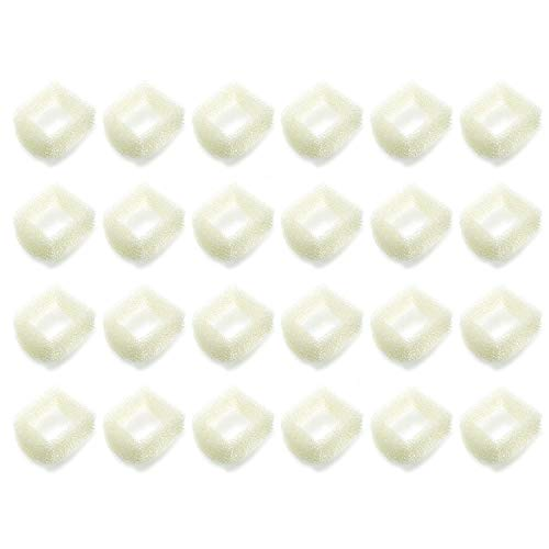 YOURS 24 Foam Pre-Filters Fit for Drinkwell Stainless Steel 360, Lotus, Avalon, Pagoda Water Bowl (White)