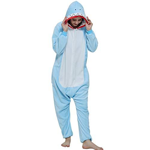 BALCONY & FALCON Tier Unisex Onesie Schlafanzug Koala Braunbär Hai Cosplay Pyjamas Halloween Karneval Kostüm Loungewear, Verkleiden Kostüme Jumpsuit Tierkostüme für Mann Frauen Jugendliche Studenten